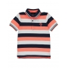 Cactus Detail Striped Polo Shirt