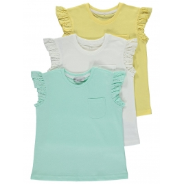 3 Pack Broderie T-Shirts