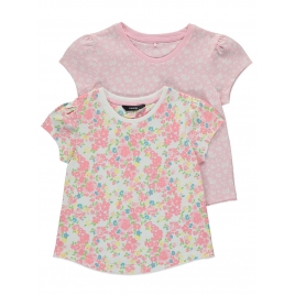 2 Pack Assorted Floral Print Tops