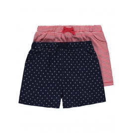 2 Pack Assorted Print Jersey Shorts