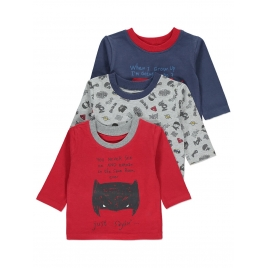 3 Pack Assorted Print Tops