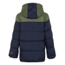 Hooded Shower Resistant Double Zip Padded Coat with Mittens